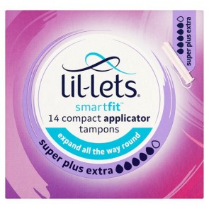 Lil Lets Applicator Super Plus Extra Tampons 14 Pack.