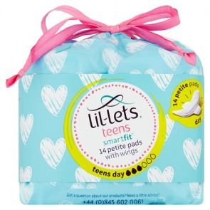Lil Lets Teen Day Sanitary Towels 14 Pack.
