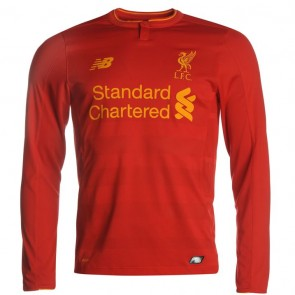 Liverpool Long Sleeve Home Shirt 2016-2017 Mens.