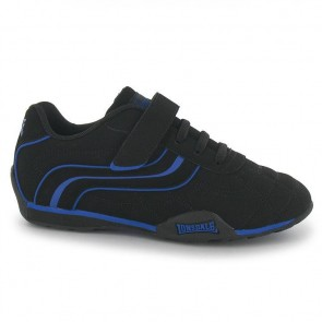 Lonsdale Camden Children's Trainers - Black/Blue.