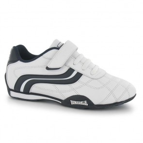 Lonsdale Camden Children's Trainers - White/Navy.