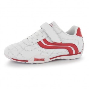 Lonsdale Camden Children's Trainers - White/Red.