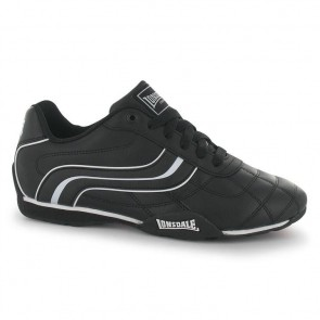 Lonsdale Camden Junior Boys Trainers - Black/White.
