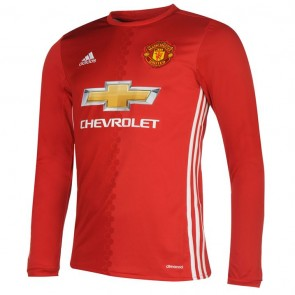 Manchester United Long Sleeve Home Shirts 2016-2017 Mens.
