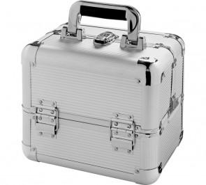 Medium Silver Aluminium Cosmetic Case.