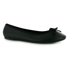 Miso Betty Ladies Ballet Pumps - Black.