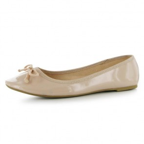 Miso Betty Ladies Ballet Pumps - Nude/Patent.