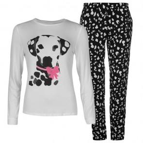 Miso Jersey Long Sleeve Pyjama Set Ladies - Dalmation.
