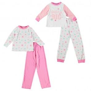 Miss Fiori Two Pack Pyjama Set Girls.