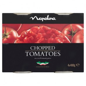 Napolina Chopped Tomatoes 4 X 400G.