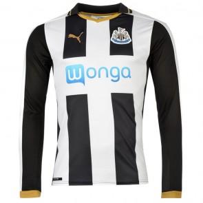 Newcastle United Long Sleeve Home Shirt 2016-2017 Mens.