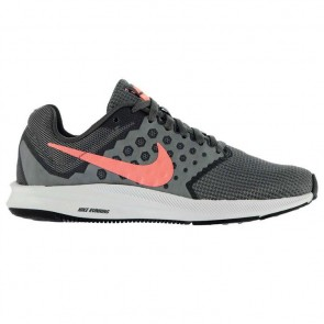 Nike Downshifter 7 Ladies Trainers - Grey/Pink.