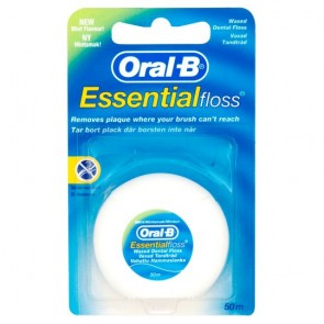 Oral B Essential Floss Mint Waxed 50M.
