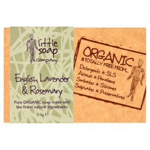 Organic Lavender And Rosemary Bar Soap 110G.