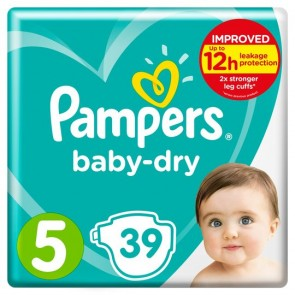Pampers Baby-Dry Pants Size 5 36 Pack.
