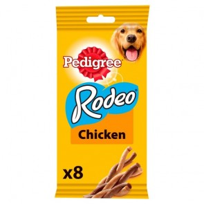 Pedigree Rodeo Dog Food Treats Chicken 8 Pack 140G