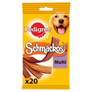 Pedigree Schmackos 4 Meat Variety 20 Stick 172G.