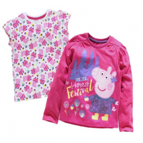 Peppa Pig 2 Pack of T-Shirts.