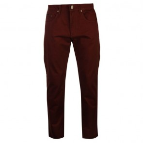 Pierre Cardin 5 Pockets Chinos Mens - Burgundy.