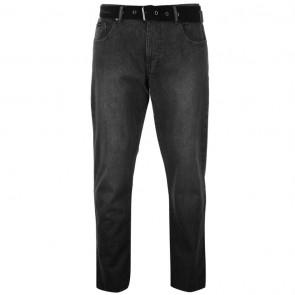 Pierre Cardin Web Belt Mens Jeans - Grey Wash.