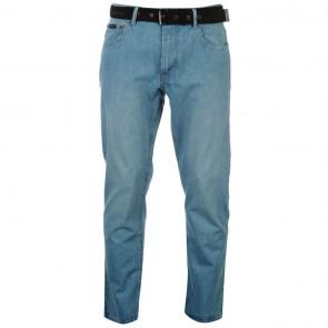 Pierre Cardin Web Belt Mens Jeans - Solid Light.