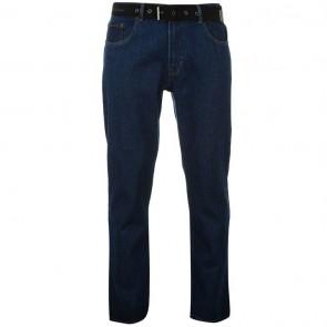 Pierre Cardin Web Belt Mens Jeans - Solid Mid.