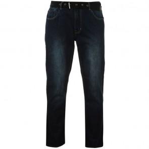 Pierre Cardin Web Belt Mens Jeans - Vintage Dark.