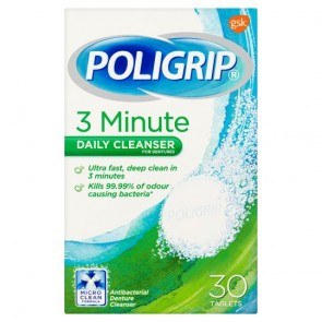 Poligrip 3 Minute Cleanser X30.