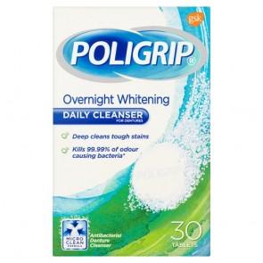 Poligrip Whitening Cleanser Tbltsx30.