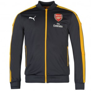 Puma Arsenal Stadium Jacket Mens Ebony/Yellow.