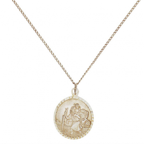 Revere Silver St. Christopher Pendant 16 Inch Necklace