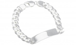 Revere Sterling Silver Solid Curb ID Bracelet