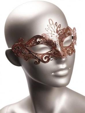 Rose Gold Metal Mask.