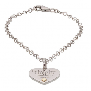 Moon & Back Silver and 9ct Gold Mother & Daughter Bracelet