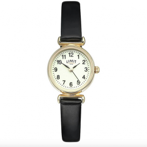 Limit Ladies' Gold Plated Round Glow Dial Watch
