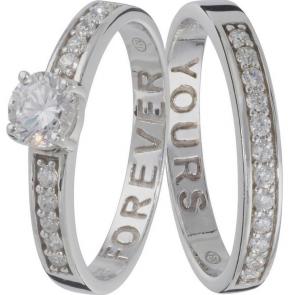 Revere Sterling Silver Eternity Ring Set