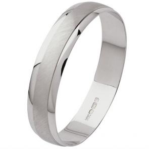 Revere 9ct White Gold Satin Finish Wedding Ring
