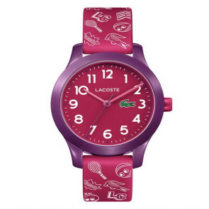 Lacoste Childrens Red Silicone Strap Watch