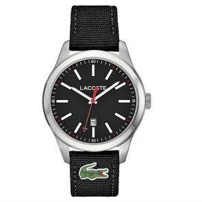 Lacoste Auckland Men's Black Fabric Strap Watch