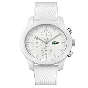 Lacoste 12.12 Men's White Silicone Strap Chronograph Watch
