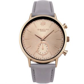 Identity London Rose Large Dial Mink Strap Watch