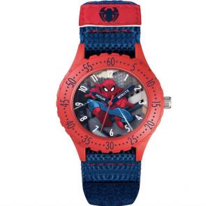 Marvel Spider-Man Time Teacher Blue Velcro Strap Watch