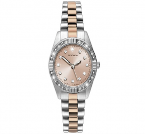 Sekonda Ladies' Rose & Silver Colour Steel Bracelet Watch