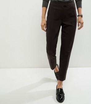 Short Slim Leg Trousers - Black.
