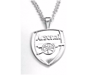 Silver Plated Arsenal Pendant and Chain