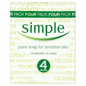 Simple Pure Soap 4X125g.