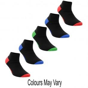 Slazenger 5 Pack Trainer Socks - Bright Asst.