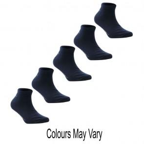 Slazenger 5 Pack Trainer Socks - Dark Asst.