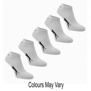 Slazenger 5 Pack Trainer Socks - White.