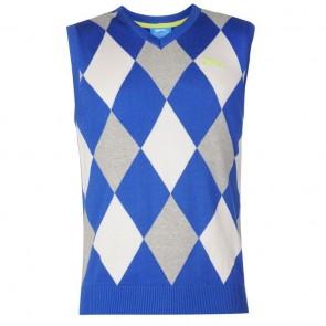Slazenger Argyle Knitted Vest Mens - Navy/White.
